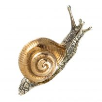 Broche escargot vermeil
