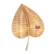 Broche feuille