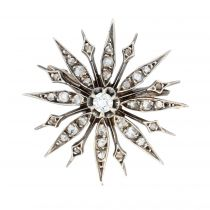 Broche flocon diamant