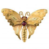 Broche papillon 2 ors