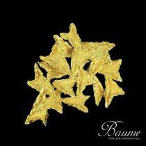 Broche Pendentif feuilles d 'or