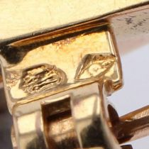 Broche rétro feuilles de fougère diamants