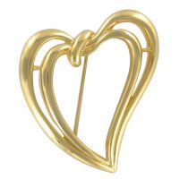 Broche Trifari Double Coeur