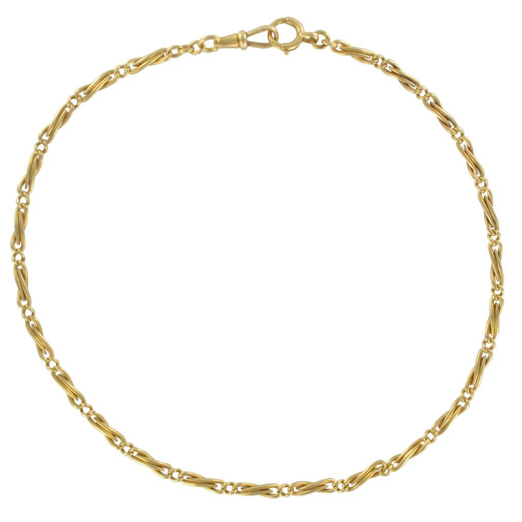 Chaine de montre ancienne en or jaune
