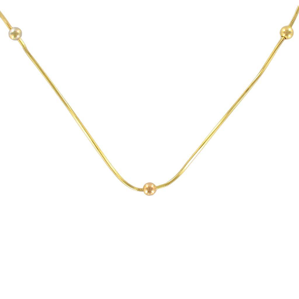 Chaine en or et perles d\'or