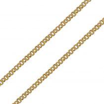 Chaine en or jaune maille ronde imbriquée