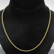 Chaîne en or perles d 'or