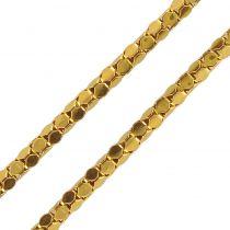 Chaine maille serpent en or jaune