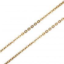 Chaine or jaune forçat ronde aplatie