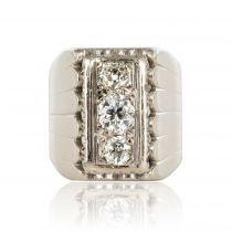 Chevalière ancienne diamants