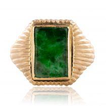 Chevalière ancienne jade