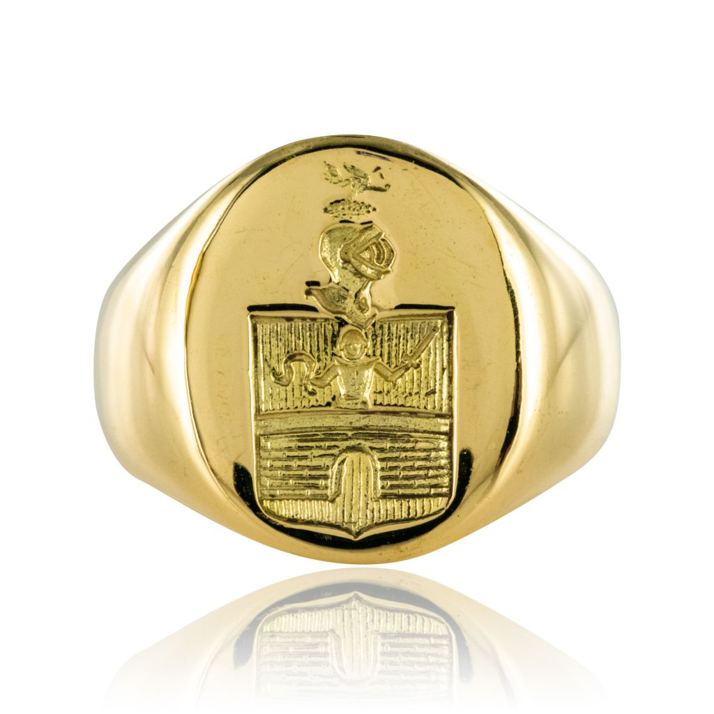 bague homme chevaliere or