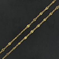Collier ancien en or maille filigranée