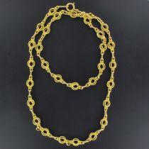 Collier ancien en or maille ronde