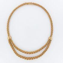 Collier ancien or draperie d\'anneaux d\'or