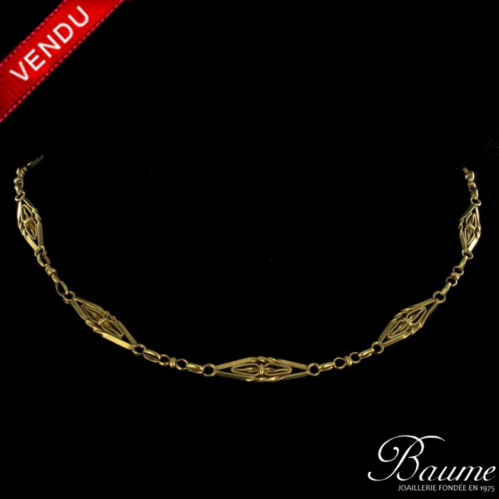 Collier ancien or