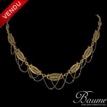 Collier ancien Perles fines
