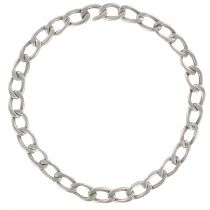 Collier argent maille gourmette