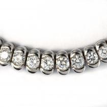 Collier diamants or blanc