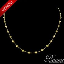 Collier en or et perles d 'or