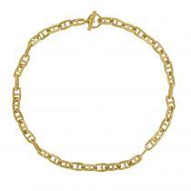 Collier maille marine ciselée or jaune