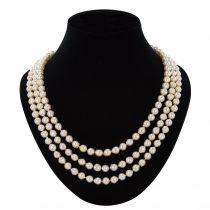 Collier perles baroques 3 rangs