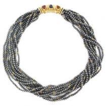 Collier perles d 'hématites