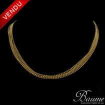 Collier perles d 'or
