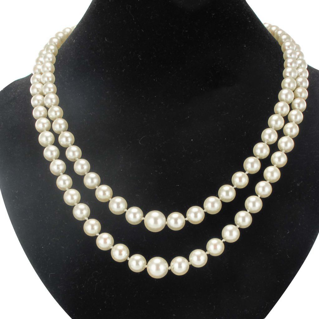 collier perles de culture du japon double rang. Black Bedroom Furniture Sets. Home Design Ideas
