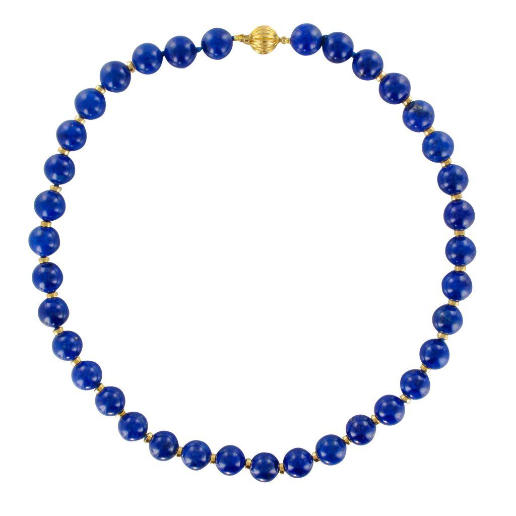 """Perle Blanche Bleu Lapis Collier 52/"""" collier long"""