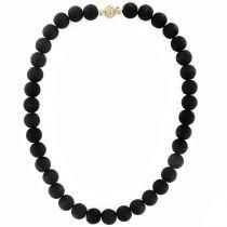 Collier perles de pierre de lave