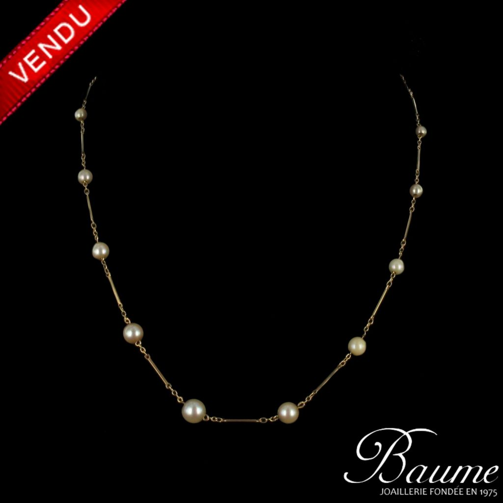 Collier Perles et Or