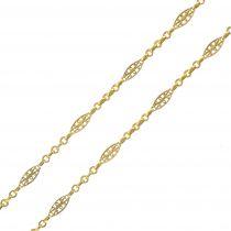 Collier Sautoir ancien en or motif filigrané