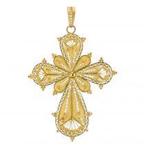 Croix en or filigrané