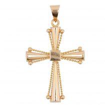 Croix en or rose