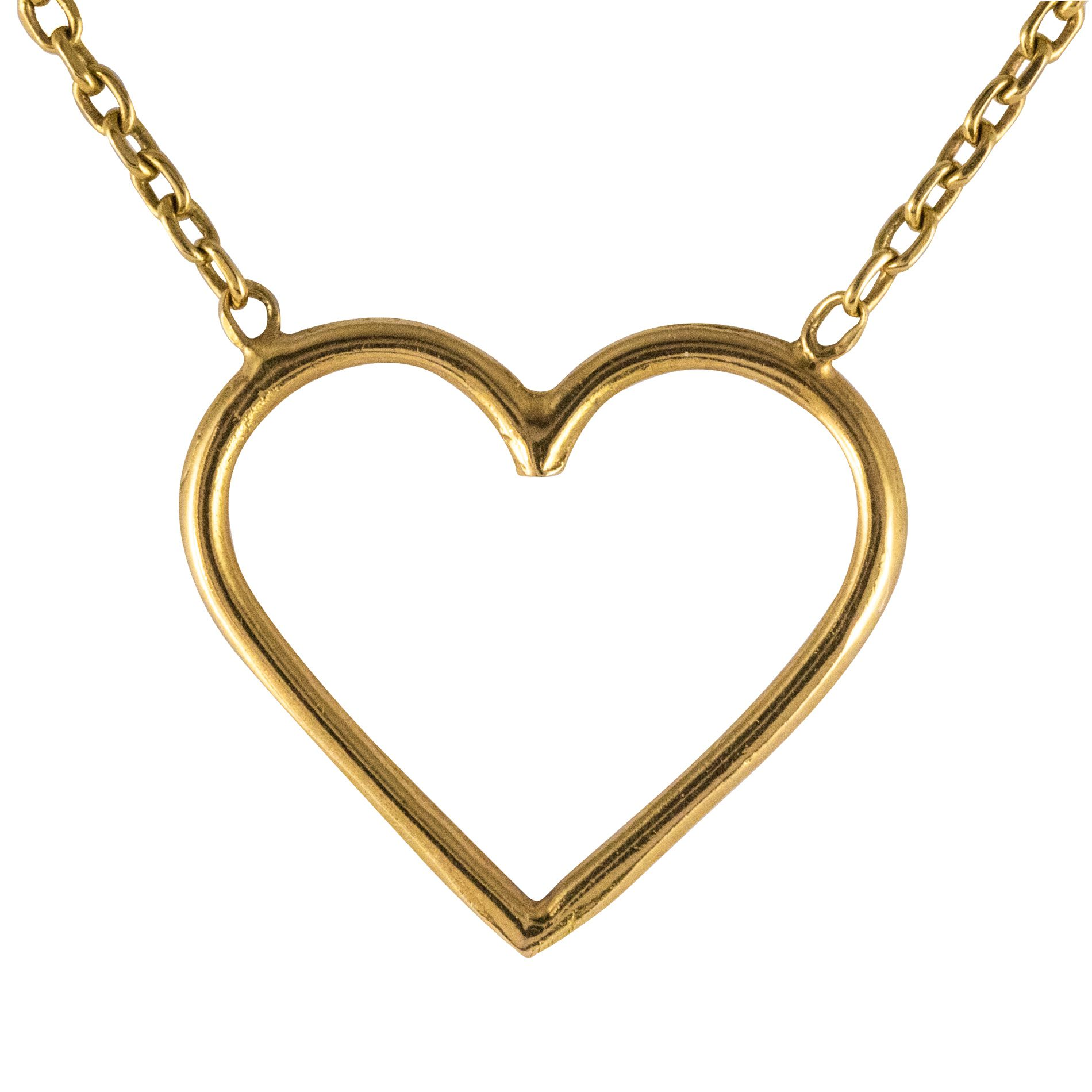 Cœur en or et sa chaine