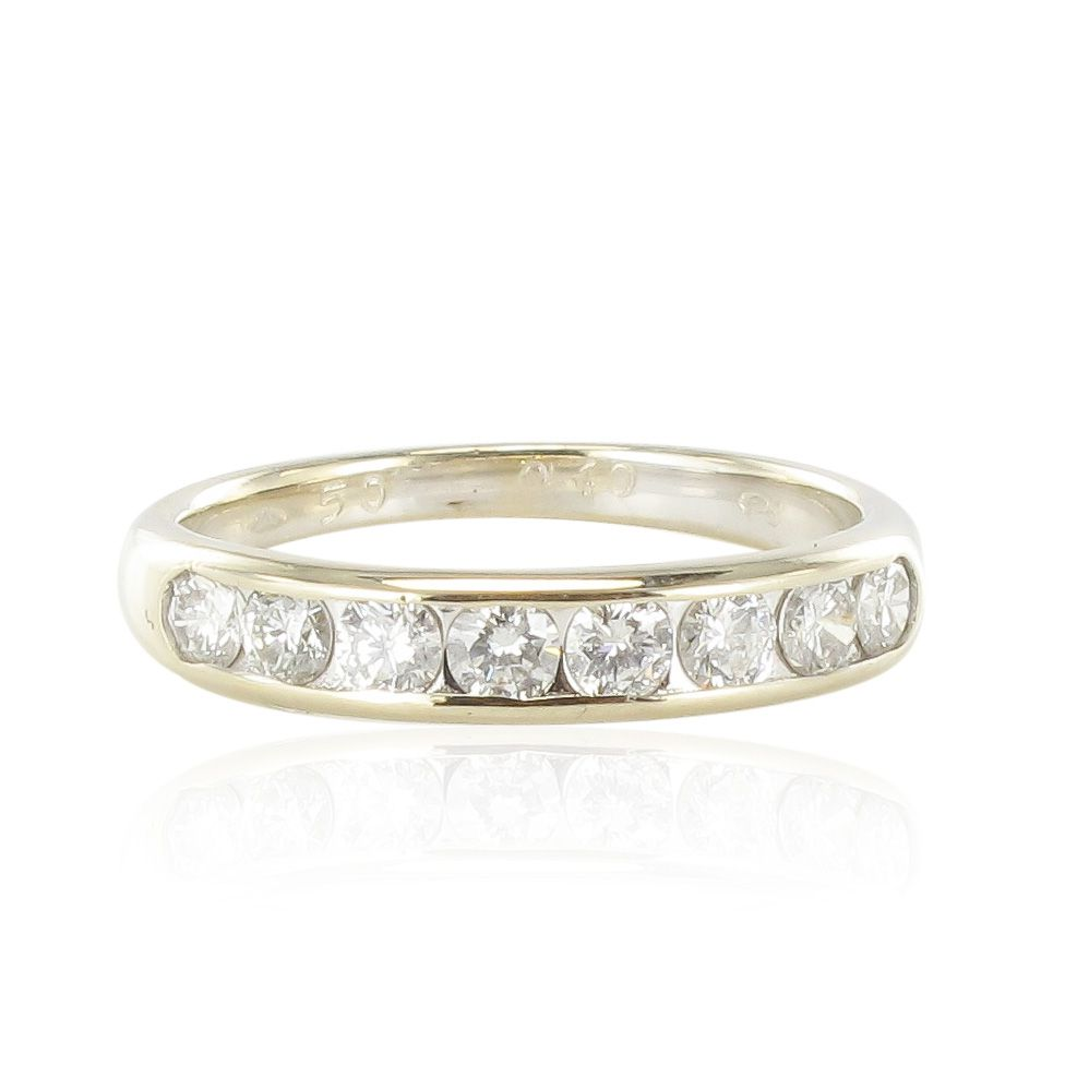 demi alliance diamants serti rail bijouxbaume. Black Bedroom Furniture Sets. Home Design Ideas
