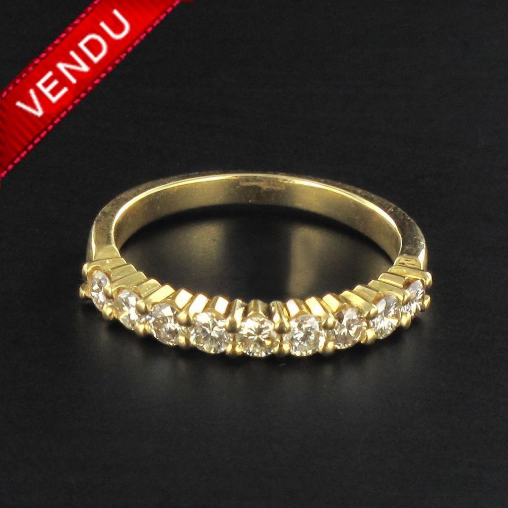 Demi allliance diamants or jaune