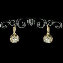 Dormeuses diamants anciennes