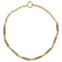 French Antique Rose Gold Chain Necklace