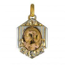 Médaille art déco 2 ors