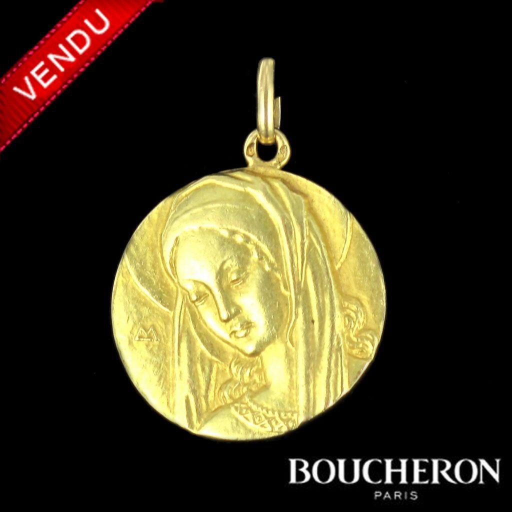 Médaille en or Boucheron