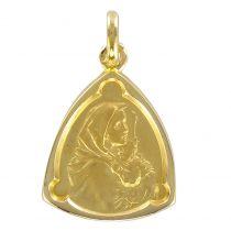 Médaille or vierge à l\'enfant