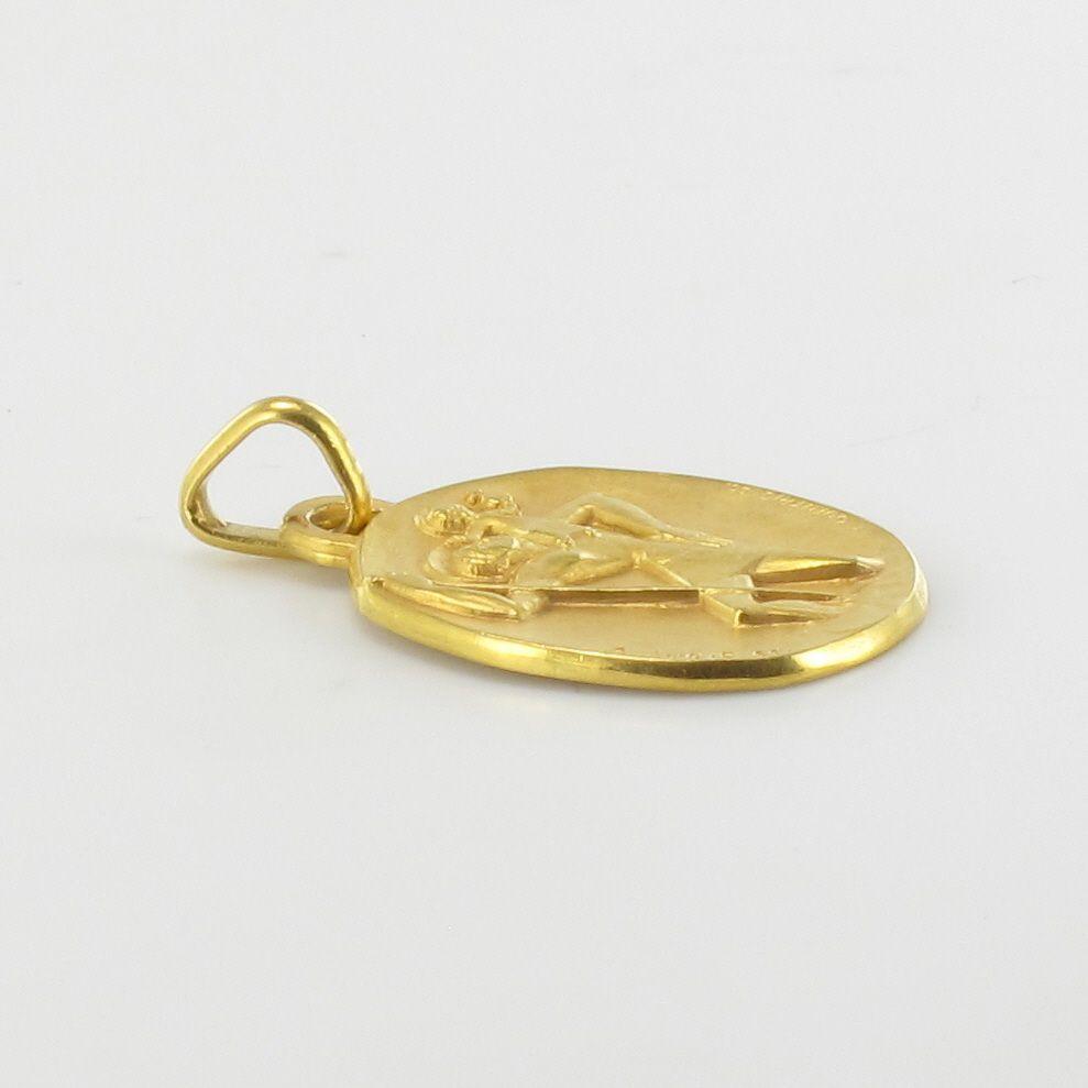 Médaille Saint Christophe et l\'enfant Jesus