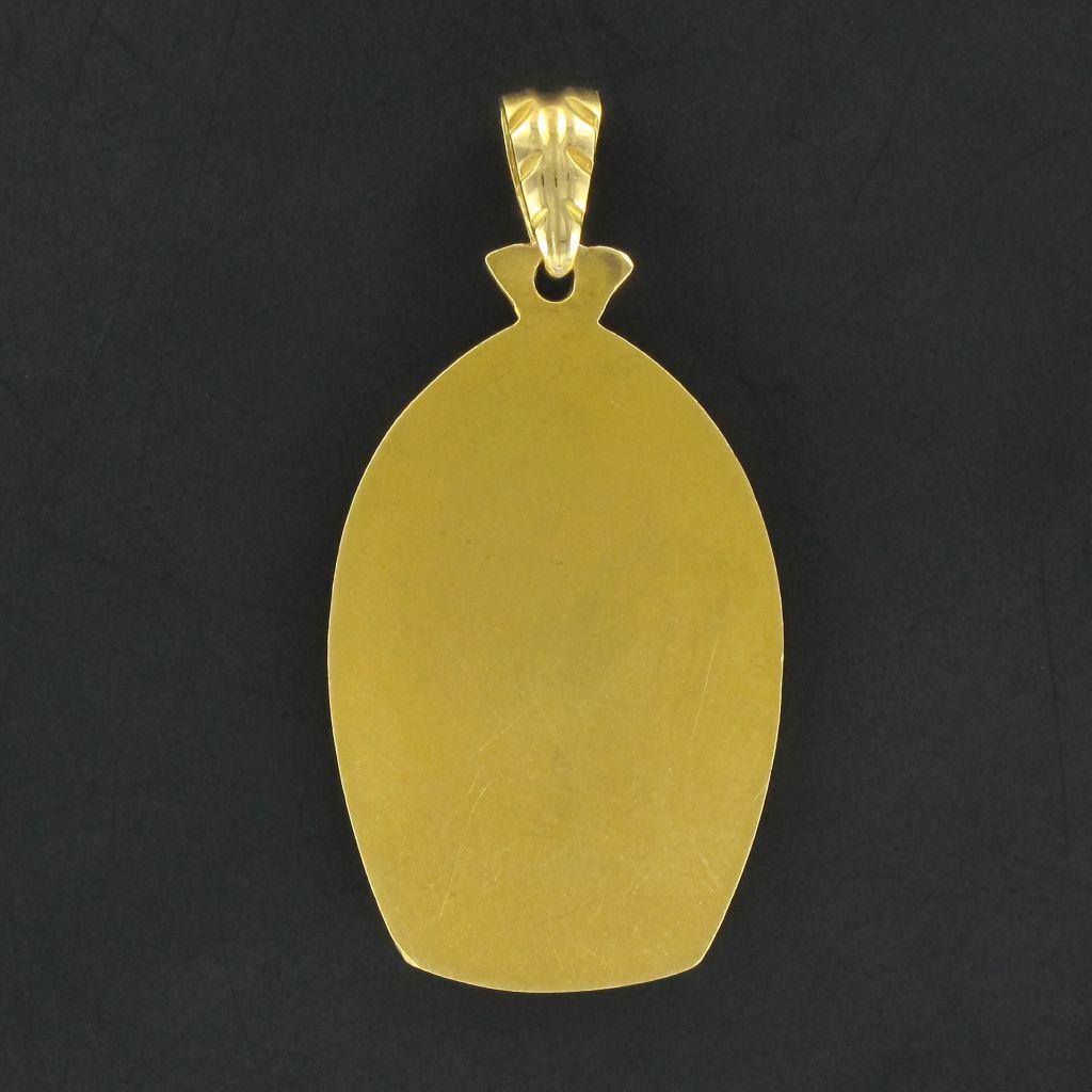 Médaille vierge auréolée en or