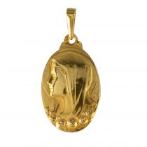 Médaille vierge et roses