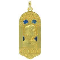 Médaille vierge or et émail