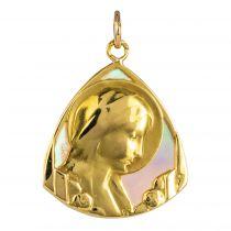 Médaille vierge or et nacre