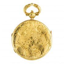 Médaillon ancien en or ciselé