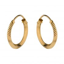 Modern diamond and yellow gold earrings